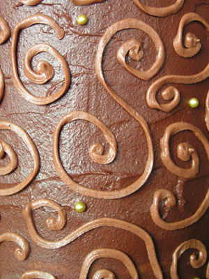 Chocolate swirls detail