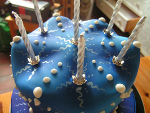 Vegan Birthday Cake on Vegan Birthday Cake With Piped And Painted Decorations  All Parts Are